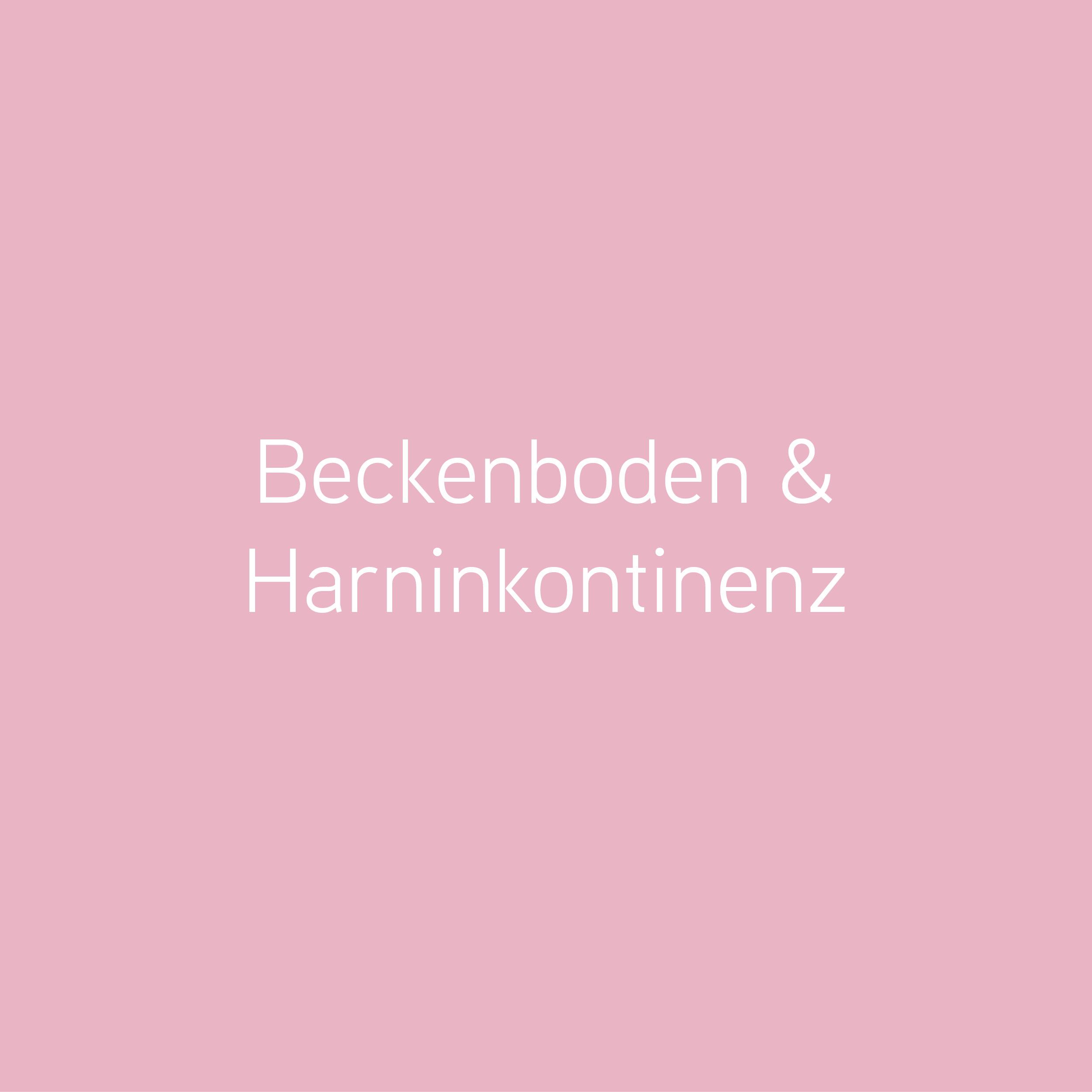 Beckenboden und Harinkontinenz, Beckenbodentraining,